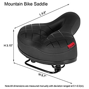 LASUAVY Bike Saddle, Bicycle Bike Seat with Shockproof Spring and Punching Foam System,Cycling MTB Saddle Cushion Pad for Cruiser/Road Bikes/Touring/Mountain Bike by LASUAVY