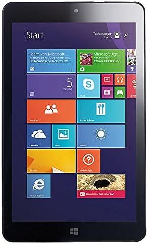 Pearl Touchlet 20,3 cm (8 Zoll) Tablet-PC mit IPS-Display (IMAPX, 1,5GHz, 16GB RAM, 32GB HDD, Win 8.1) schwarz