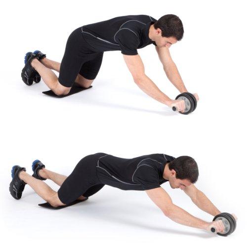 Ultrasport Bauchtrainer AB Roller inkl. Knieauflage und Trainingsanleitung -