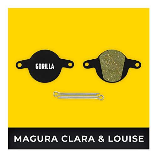 Magura Bremsbeläge Clara 2001-2002 Louise 2002-2006 & Louise FR ab 2012 Typ 3 für Fahrrad Scheibenbremse I Hohe Bremsleistung I Langlebiger & Passgenauer Bremsbelag I Organischer Belag