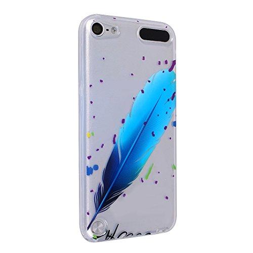 2 x iPod Touch 6 Schutzhülle, iPod Touch 5 Transparent Case, Rosa Schleife Ultra Dünn TPU Silikon Soft Backcover mit Bunte Muster Design Klar Handyhülle Bumper Schale für iPod Touch 5 / 6 3 Packs