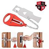 Portable Door Lock Travel Lock AirBNB Lock School Lockdown Lock School Lockdown Lock Also for Security Home Apartment Living Hotel Motel