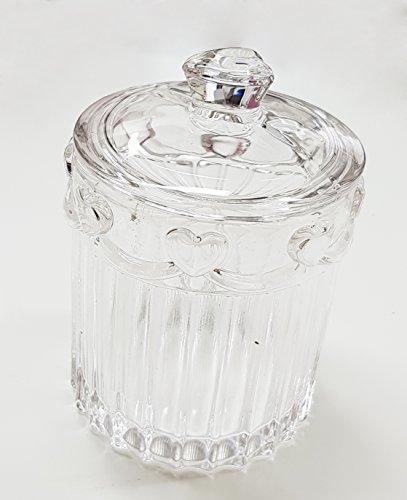 Takestop® Bonbondose Ware Glas Kristall Plätzchen Konfekt Gebäck Aus Glas  12 Cm 5 Durchmesser Mit