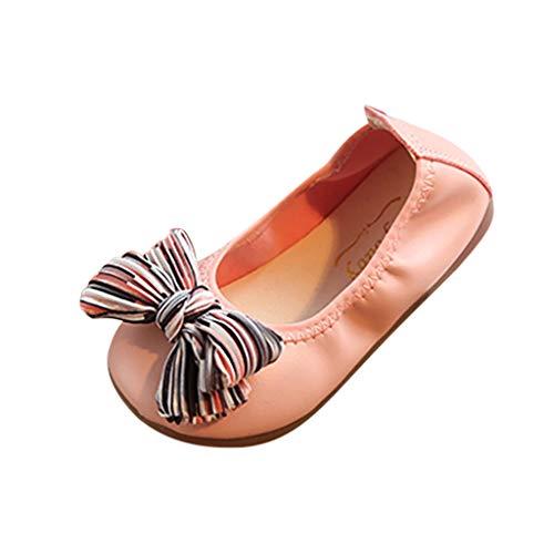 JiaMeng Baby Mädchen Tanzschuhe Bow-Knot Ornament Schuhe Rutschfeste Casual Babyschuhe Wohnungen Schuhe