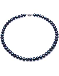 aeb3ad2294de JYX - Collar de perlas cultivadas en agua dulce de 8 a 9 mm