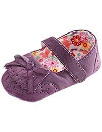 Tefamore zapatos primeros pasos bebes de antideslizante de sole suave de moda invierno de calentar