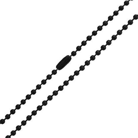Bling Jewelry Unisex Acciaio inossidabile perla nera