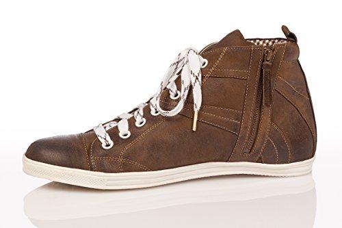 Spieth & Wensky Trachten Herren Sneaker - Julian - Rustik, Wolf, Größe 43 - 3