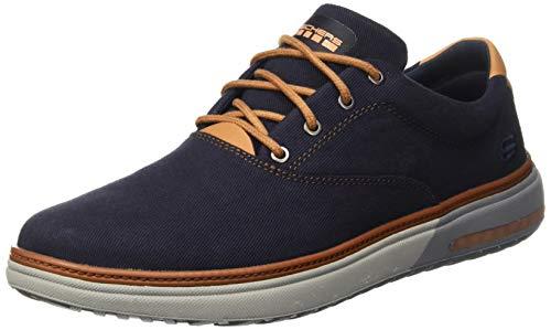 Skechers Herren Folton - Verome Sneaker, Blau (Navy), 39.5 EU Austin Plain Toe