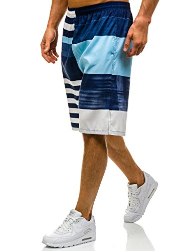 BOLF Herren Badehose Shorts Bermudas Kurzhose Fitness Sporthose Print Motiv Fitness Sport Wasser Sommer Men's Slim Moderm New Style Mix Mehrfarbig_H_Y720A