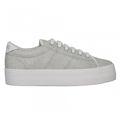 No NamePlato Sneaker - Basse Donna , argento (Argent (Platine)), 39 EU