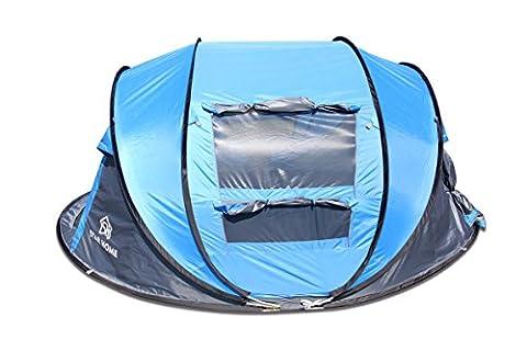 Star Home Bateau tentes Tente de randonnée en plein air Camping Randonnée tentes For4personne Abri Soleil léger Plage ombrage tentes tentes Tente familiale automatique tentes, taille: 280L * 200W * 120hcm, bleu