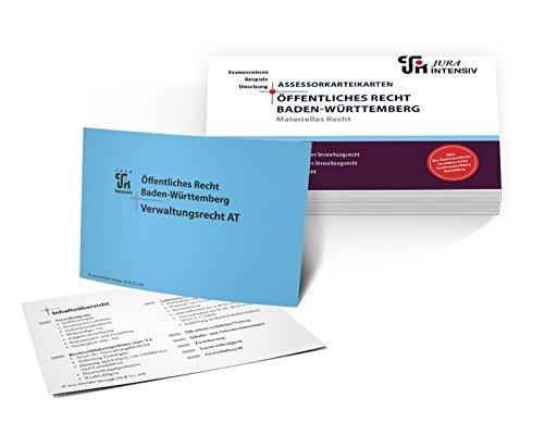 Assessor Karteikarten ÖR Baden-Württemberg - Materielles Recht: Allgemeines Verwaltungsrecht, besonderes Verwaltungsrecht & Prozessrecht (Assessor Karteikarten Baden-Württemberg)