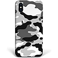 For New iPhone X - Phone Back Case Hard Cover Custom Personalised Full 3D Style Christmas Gift Present Abstract Modern Design Protective Plastic UK Brand Appfix Army colors white and black Games