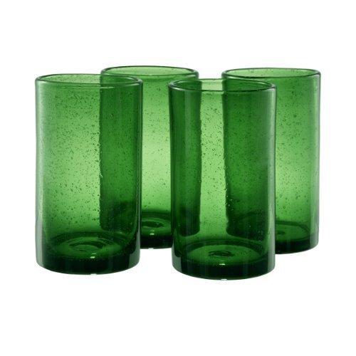 Artland Iris Highball Glasses, Green, Set of 4 by Artland Iris Highball