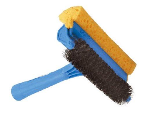 maurer-1190560-spazzola-pulisci-zanzariera-con-spazzola-a-rullo-e-spugna-manico-in-abs