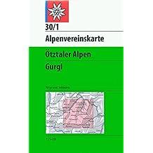 Ötztaler Alpen - Gurgl: Wege und Skitouren - Topographische Karte 1:25000 (Alpenvereinskarten)
