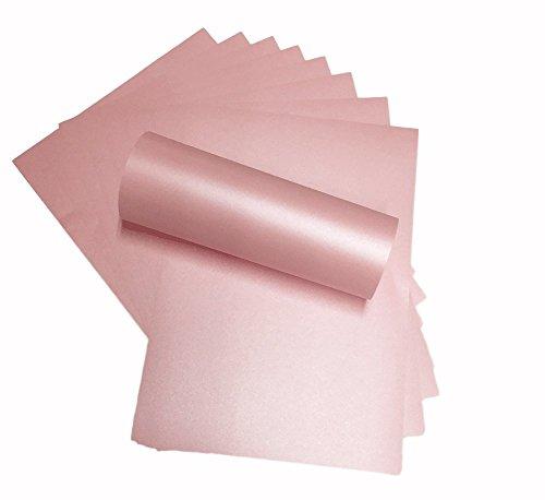 Blütenblätter Rosa Perlglanz-Shimmer dezente Sparkle Effekt doppelseitig A4Dekorative Karte 290gsm x 10 (Papier Stock, Rosa Card)