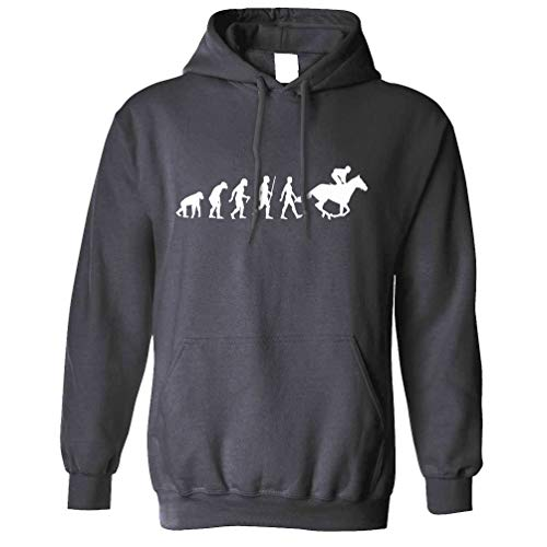Tim And Ted Sport Kapuzenpullover Evolution of Reiten REIT Charcoal X-Large
