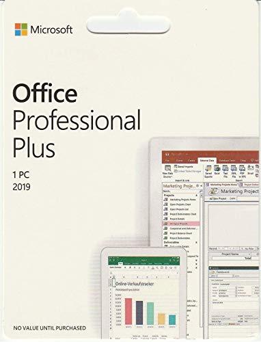 MicrosoftTM Office Professional Plus 2019 | Plurilingue | 1 PC (Windows 10) | Licenza Permanente | Key Card