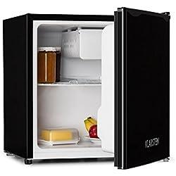 Klarstein Klarstein 50L1-SG - Mini-réfrigérateur, Mini-bar, Mini-congélateur, 40 L, Faible niveau sonore, Acier inoxydable, Classe énergétique A +, Température réglable, Noire