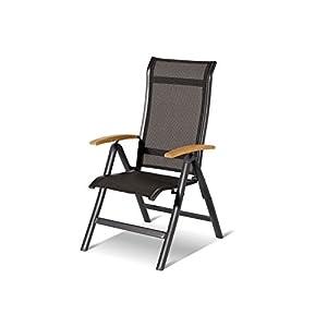 Hartman Alice Multipositionssessel in Xerix-Black, solides Aluminiumgestell, Sitzfläche aus hochwertiger Textilene, ca…