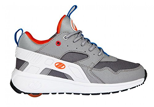 Heelys Force Schuhe–Grau/Weiß/Orange UK 2/EU 34 (Schuhe Grau Heelys)