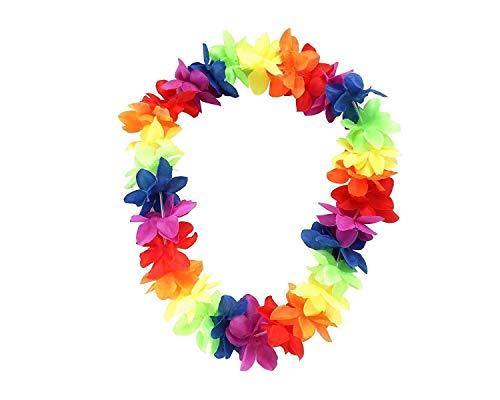 Hawaii Blumenketten Hawaiikette Halskette für Kleid, Party und Strand, 10 Stück