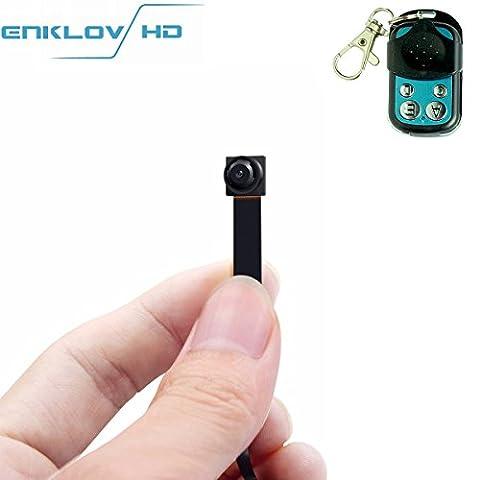 1080P portable Mini caméra cachée espion–enklov caché enregistreur vidéo caméra avec détection de mouvement sans fil, télécommande, mini Spy Nanny Cam, Spy Business Monitoring