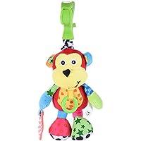 ammoon Babyfans FK8012 Cartoon Doll Scimmia-modello Musicale Giocattolo Farcito Giocattolo Educativo Pull-Vibration Peluche Musica per Appendere dei Bambini