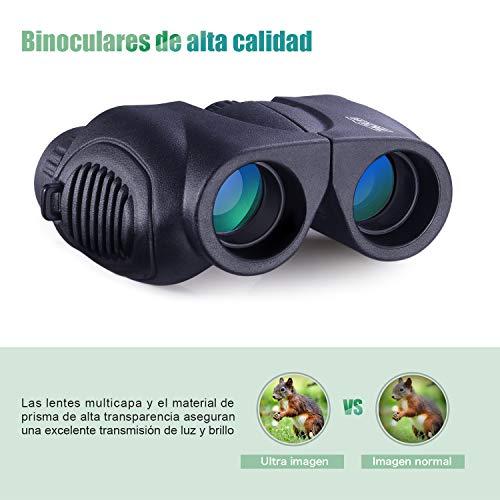 Mini Prismáticos TACKLIFE MBC03 Prismáticos de Bolsillo 10 x 22 HD Resistente al Agua Fácil de Llevar y Adecuado para niños,  Viajes,  Estadio Deportivo,  Observación de Aves,  Conciertos