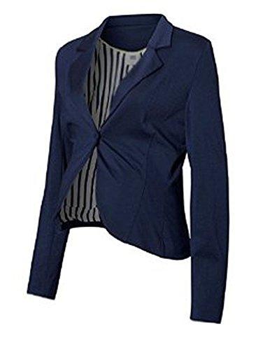 mama licious Schwangerschafts Blazer 20004241 MLJen Hilda L/S Jersey Blazer in black iris Gr. XL