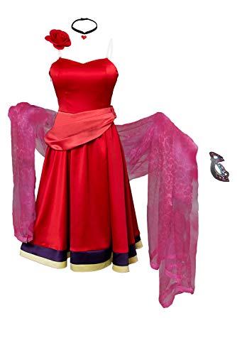 rade Kleid Cosplay Kostüm Rot Damen M ()