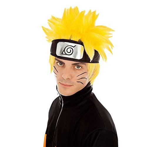 Chaks Naruto-Perücke Kostüm-Accessoire gelb-schwarz Einheitsgröße