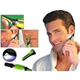 Hair Trimmer Cordless Great For Travel, Nose Hair Trimmer With Built In Led Light