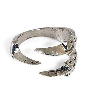 SiAura Material 1x Ring Adlerkralle, Innendurchmesser 17,7 mm, Antiksilber