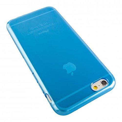 ECENCE APPLE IPHONE 6+ 6S+ PLUS (5,5) SILIKON TPU CASE SCHUTZ HüLLE HANDY TASCHE COVER SCHALE DURCHSICHTIG 12010503 Blau