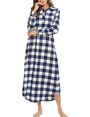 the latest 4704c caaab Skione Nachthemd Damen Stillen Pyjama Lang Streifen ...