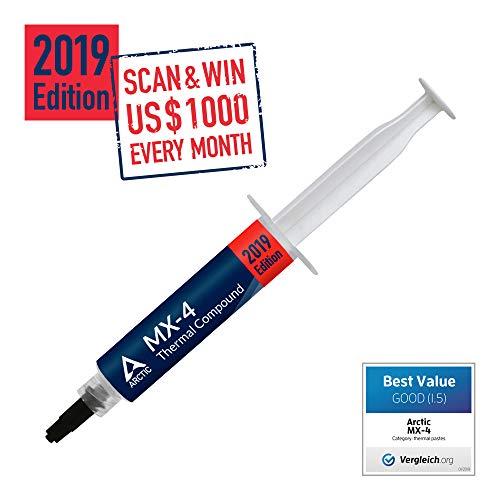 ARCTICMX-4 Edition 2019 (20 Gramm) - Hochleistungs-Wärmeleitpaste für alle CPU Kühler - Hohe Wärmeleitfähigkeit mit niedrigemthermischenWiderstand
