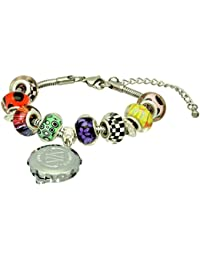 SOS Talisman Pandora Style Bracelet (Alma) with Chrome Plated Capsule - St. George