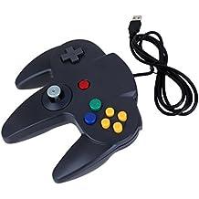 Mando Clásico con Cable USB de Juegos Negro para Nintendo 64 N64 PC MAC
