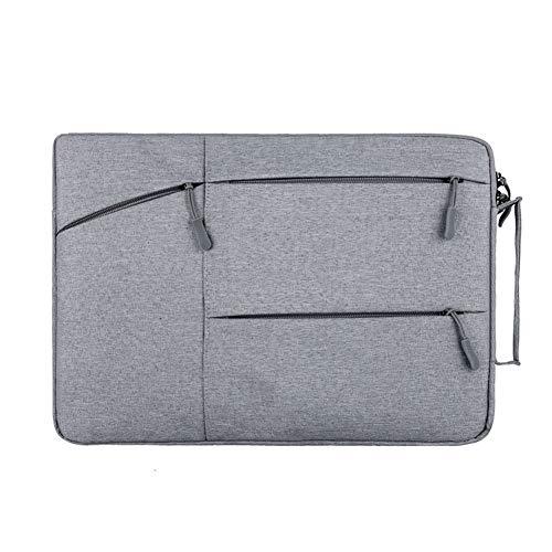 Milnut Laptop Tasche Nylon, Tragbar Notebooktasche 15,4 Zoll für Acer/ASUS/Dell/HP/Lenovo, Laptop Schutzhülle Tasche Hülle - Grau