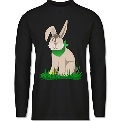 Ostern - Osterhase - Longsleeve / langärmeliges T-Shirt für Herren Schwarz