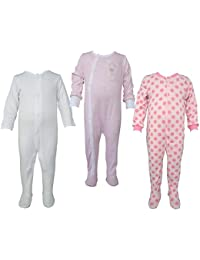 Teddy's Choice 100% Cotton Multi color 3 Combo Kid's Romper for 3-6 Months :Modle-03