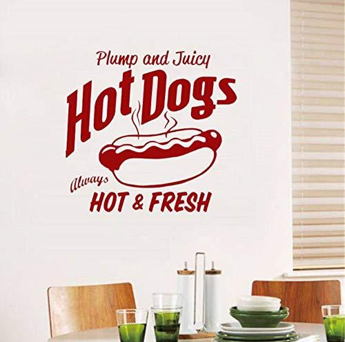 attoo Restaurant Vinyl Wandaufkleber Zeichen Zitat Lebensmittel Winow Wandtattoos Home Art Decor Abnehmbare Moderne Wandbild 57x60 cm ()