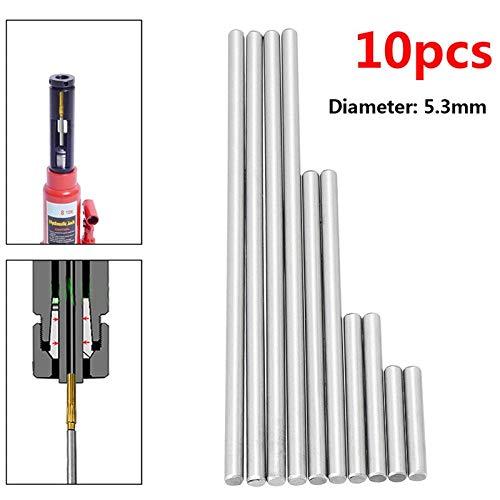 W-Nuanjun-wj 10 stücke Auswerferstifte Set zum Drücken von Gewehrknöpfen Hohe Härte Volle Spezifikationen Stahl Reibahle Werkzeugmaschinen Zubehör (Größe : 5.3mm)