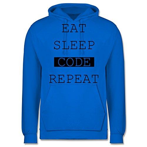 Programmierer - Eat-Sleep-Code-Repeat - Männer Premium Kapuzenpullover / Hoodie Himmelblau