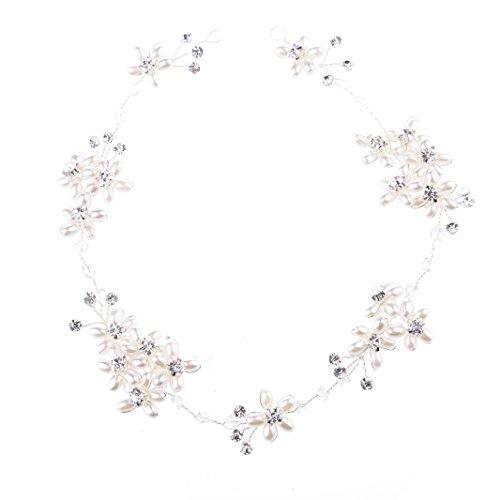 Oshide Haarschmuck Hochzeit Romantisch Blume Haardraht Perlen Und Strass Kopfschmuck