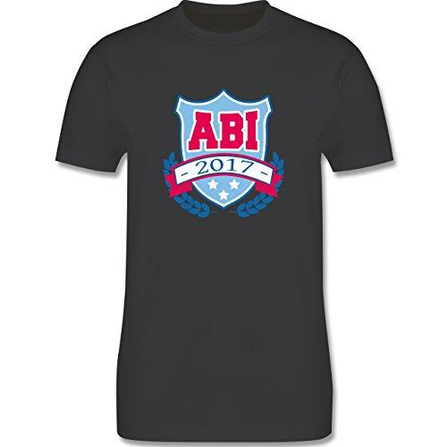 Abi & Abschluss - ABI 2017 Badge - Herren Premium T-Shirt Dunkelgrau
