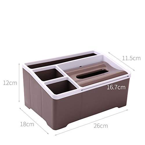 HR Serviettenhalter TV Fernbedienung Aufbewahrungsbox Wohnzimmer Couchtisch Desktop Fernbedienung Aufbewahrungsbox Hause Multifunktions (Farbe : A, größe : 10 * 5 * 7 inches) -